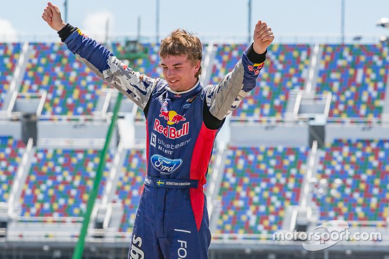 Il vincitore Sebastian Eriksson, Olsbergs MSE Ford