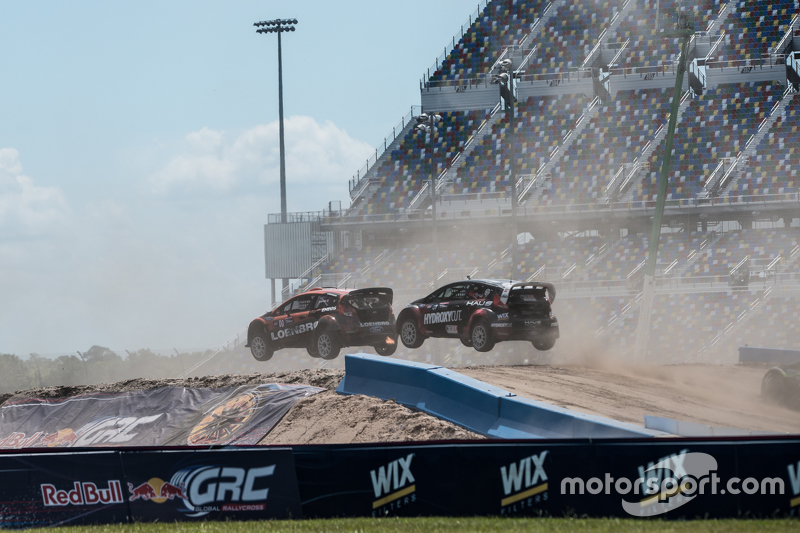 Steve Arpin, Chip Ganassi Racing, Ford, und Nelson Piquet jr., SH Racing Rallycross, Ford