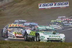 Emiliano Spataro, UR Racing Dodge dan Sergio Alaux, Coiro Dole Racing Chevrolet dan Guillermo Ortelli, JP Racing Chevrolet