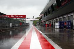Heavy rain halts the test
