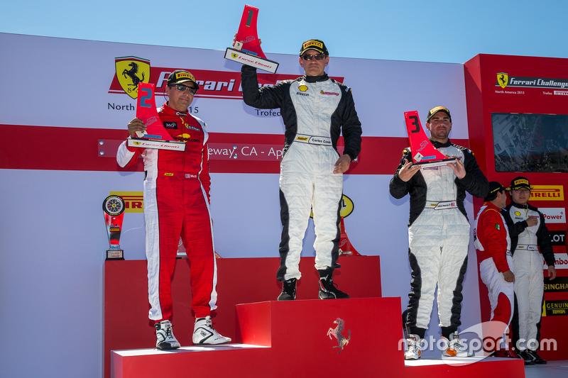 Podium: Race winner #23 Miller Motorcars Ferrari 458: Carlos Conde, second place #91 Ferrari of Long