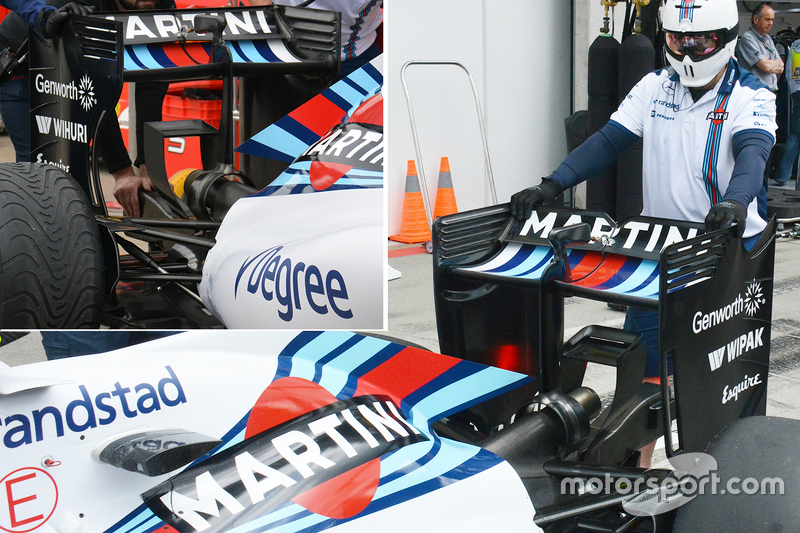Williams new wing, with old wing inset photo