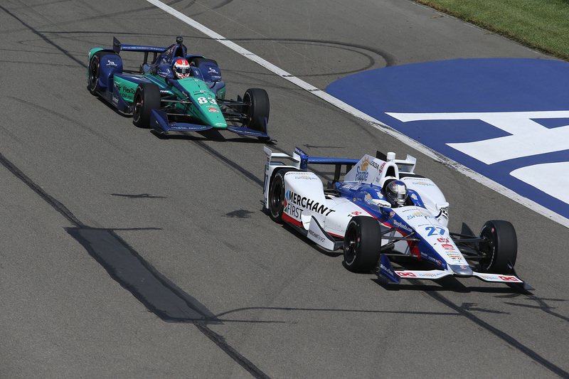 Marco Andretti, Andretti Autosport Honda, dan Charlie Kimball, Chip Ganassi Racing Chevrolet