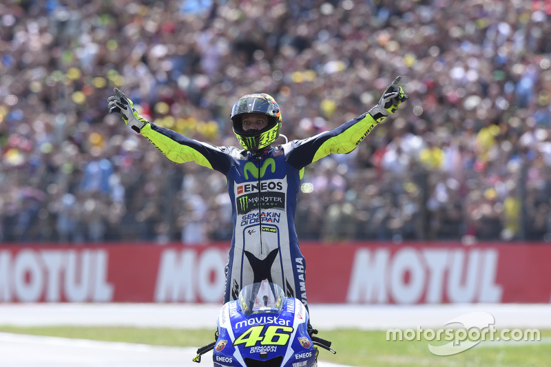 Il vincitore Valentino Rossi, Yamaha Factory Racing