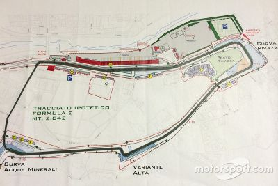 Hypothetical Imola Formula E track
