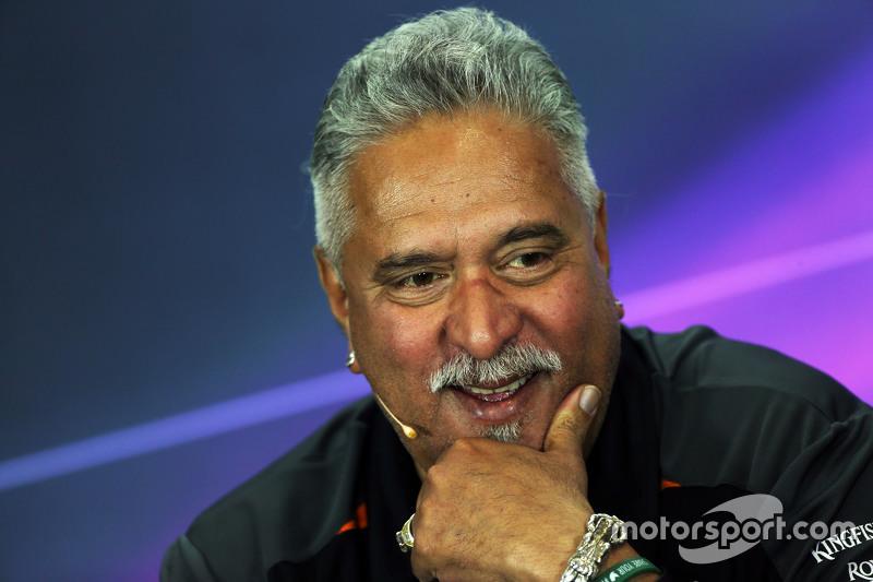 Dr. Vijay Mallya, Pemilik tim Sahara Force India F1 di Konferensi Pers FIA
