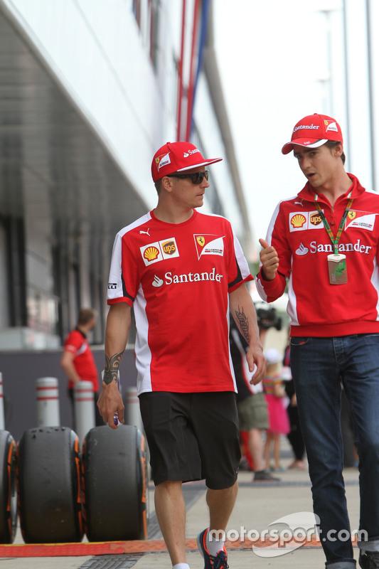 Kimi Raikkonen, Ferrari bersama Esteban Gutierrez, Ferrari Test, dan Reserve Driver