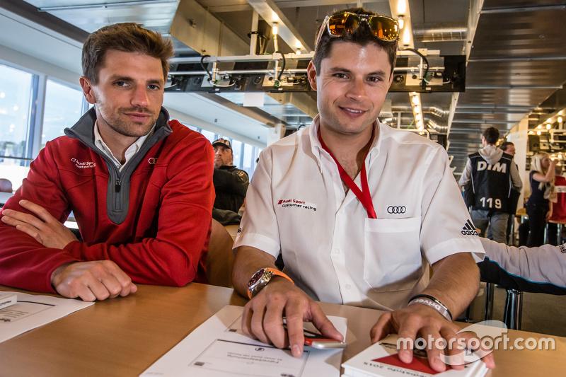 Phoenix Racing: Christian Mamerow, und Audi Sport Team WRT: Pierre Kaffer