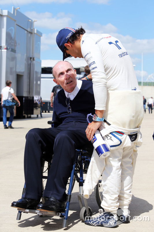 Frank Williams, Williams-Besitzer, mit Felipe Massa, Williams