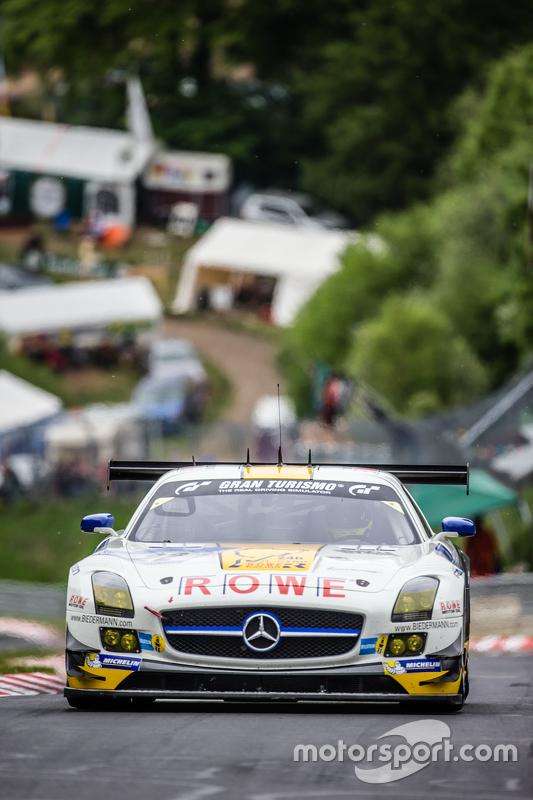 #22 Rowe Racing, Mercedes-Benz SLS AMG GT3: Maro Engel, Jan Seyffarth, Renger van der Zande, Thomas Jäger