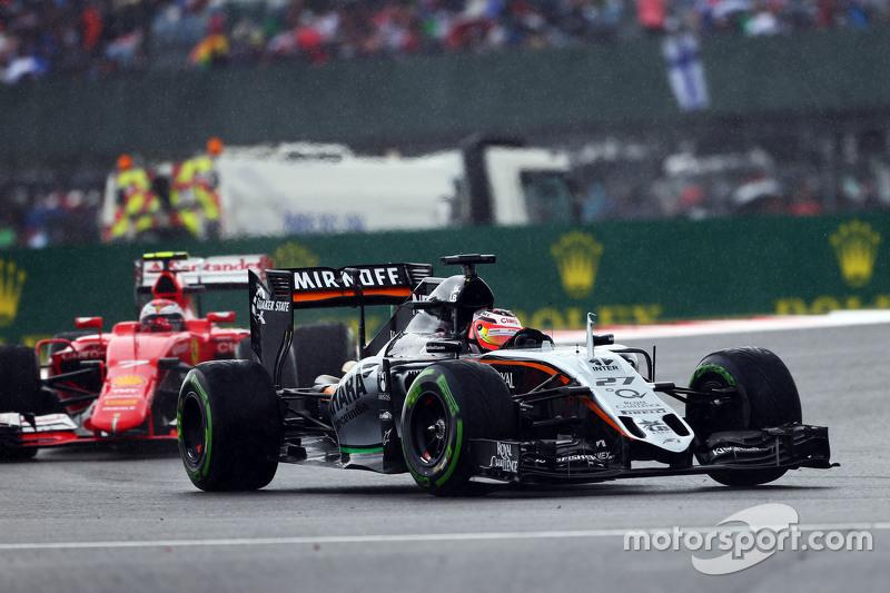 Nico Hulkenberg, Sahara Force India F1 VJM08 di rain.