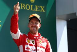 Третье место - Себастьян Феттель, Ferrari.