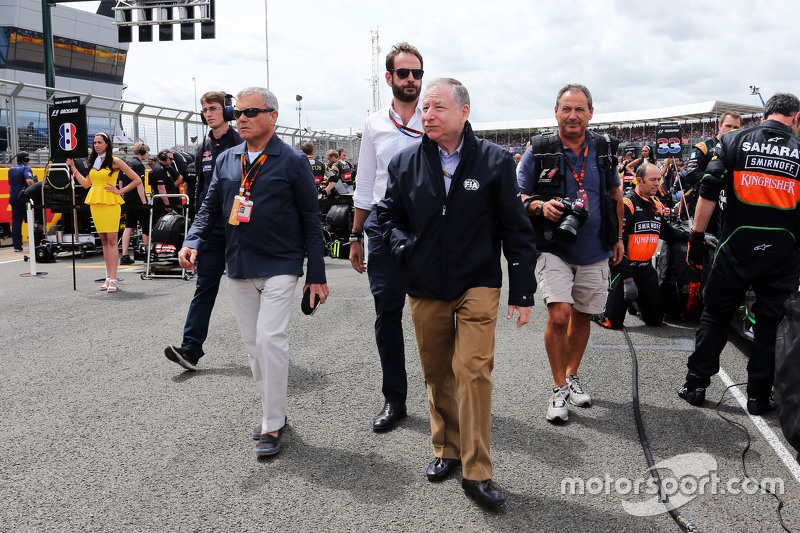 Jean Todt, FIA President with Sir Martin Sorrell, WPP CEO on the grid