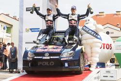 Ganadores, Sébastien Ogier y Julien Ingrassia, Volkswagen Polo WRC, Volkswagen Motorsport