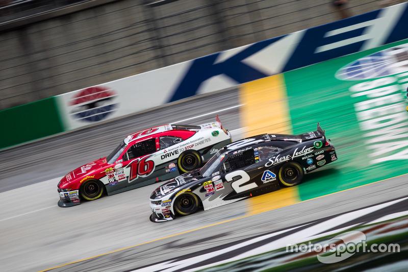 Brian Scott, Richard Childress Racing Chevrolet dan Ryan Reed, Roush Fenway Racing Ford