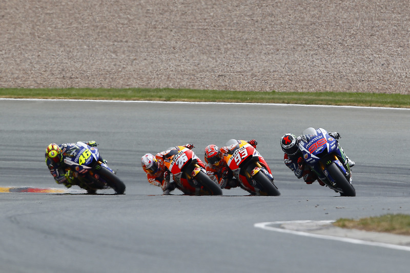 Jorge Lorenzo, Yamaha Factory Racing and Marc Marquez and Dani Pedrosa, Repsol Honda Team and Valentino Rossi, Yamaha Factory Racing