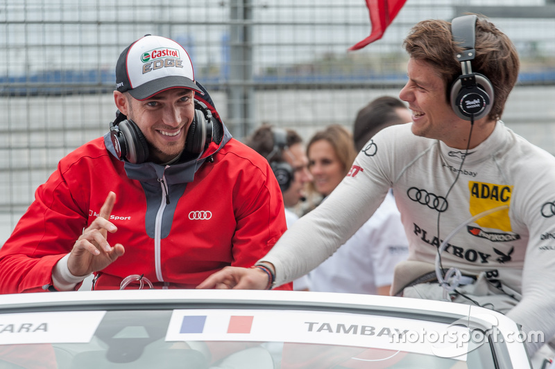 Edoardo Mortara and Adrien Tambay, Audi Sport Team Abt Audi RS 5 DTM