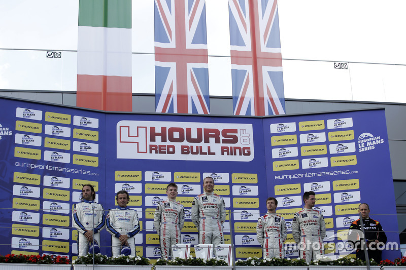LMP3 podium: race winners Chris Hoy, Charlie Robertson