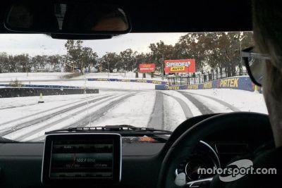 Snow at Mount Panorama