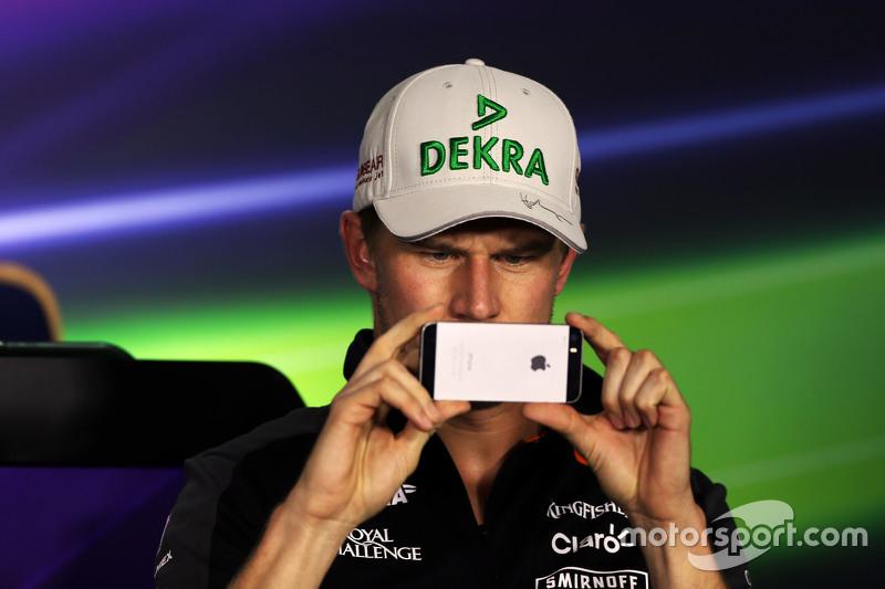 Nico Hulkenberg, Sahara Force India F1 di FIA Press Conference