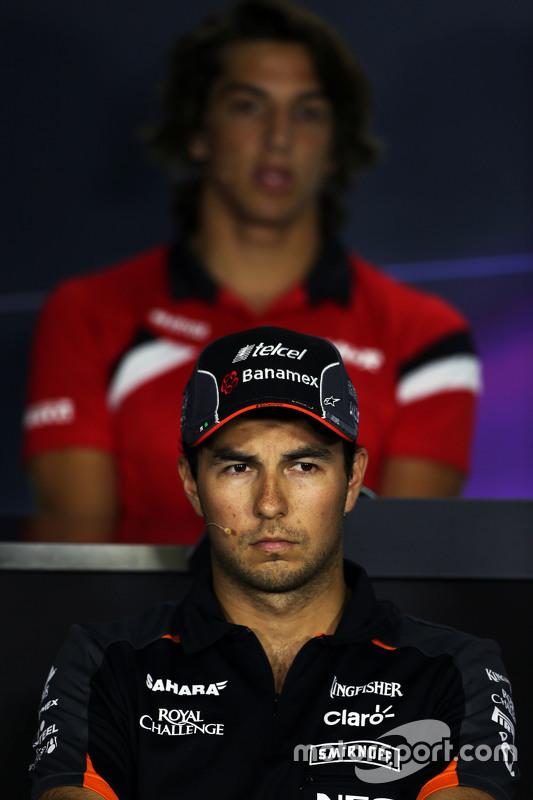Sergio Perez, Sahara Force India F1 di FIA Konferensi Pers