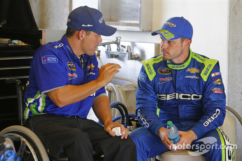 Casey Mears, Germain Racing Chevrolet dengan crew chief Booty Barker