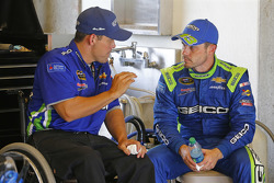 Casey Mears, Germain Racing Chevrolet with crew chief Booty Barker