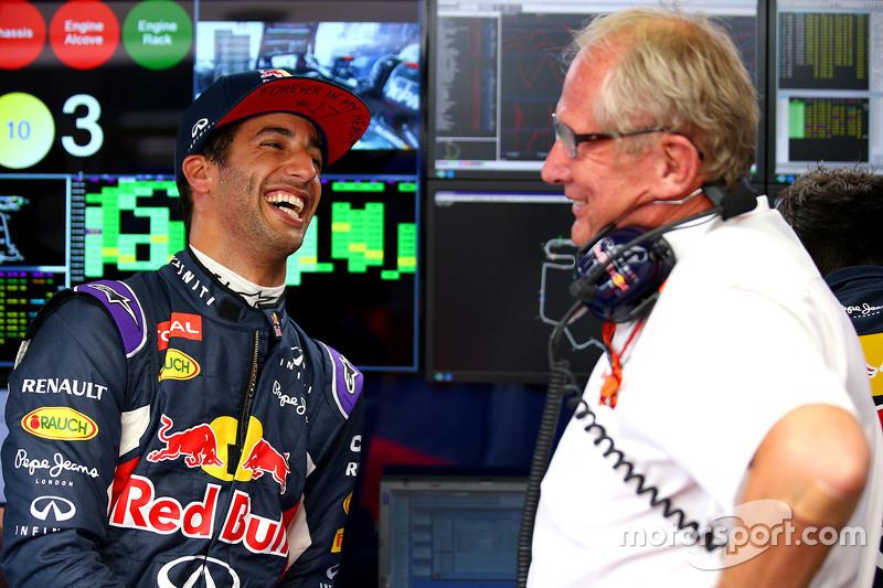 Даниэль Риккардо, Red Bull Racing, и Хельмут Марко