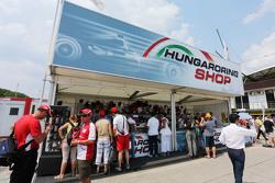 Hungaroring merchandise stand
