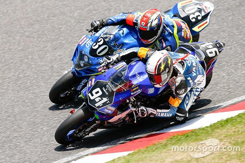 #94 Yamaha: David Checa, Kenny Foray, Mathieu Gines and #30 Suzuki: Vincent Philippe, Anthony Delhal