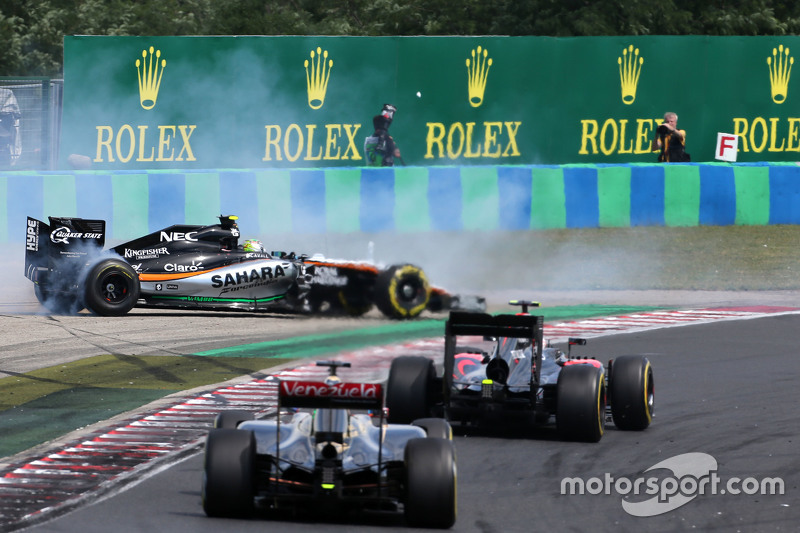 Sergio Perez, Sahara Force India e Pastor Maldonado, Lotus F1 Team