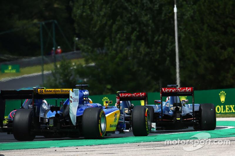 Маркус Ерікссон, Sauber C34 на початку гонки