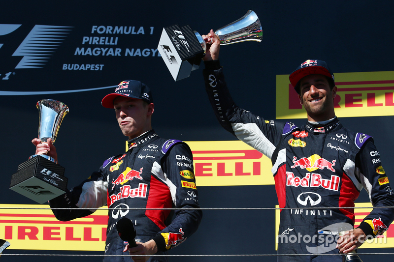 Daniil Kvyat, Red Bull Racing RB11 dan Daniel Ricciardo, Red Bull Racing RB11