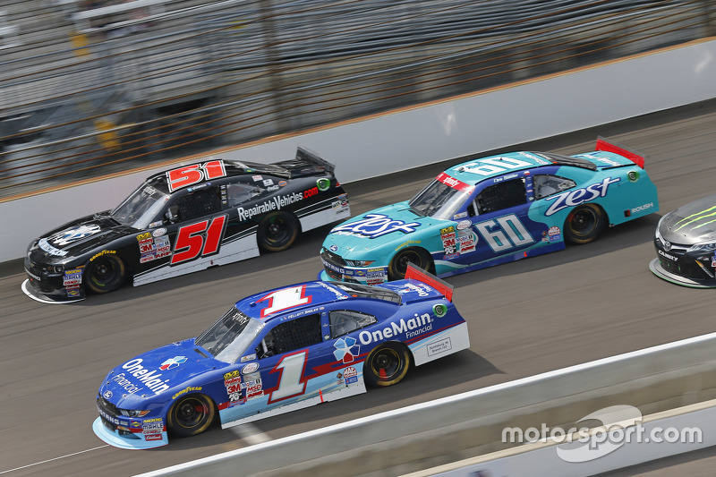 Jeremy Clements, Jeremy Clements Racing Chevolet, Chris Buescher, Roush Fenway Racing Ford and Ellio