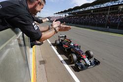 Fernando Alonso, McLaren Honda aan de finish