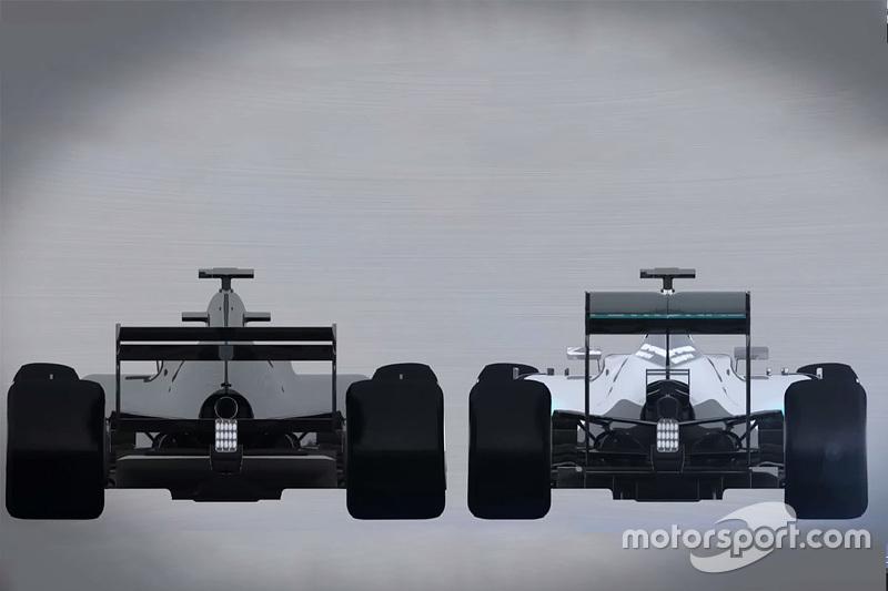 Formel-1-Vergleich 2016/2017: Heckansicht