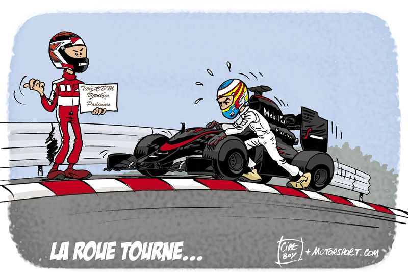 GP de Hongrie - Les difficultés d'Alonso et Räikkönen