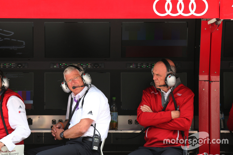 Arno Zensen, Teamchef Audi Sport Team Rosberg and Dr. Wolfgang Ullrich, head of Audi Motorsport