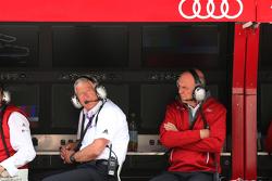 Arno Zensen, Teamchef Audi Sport Team Rosberg and Dr. Wolfgang Ullrich, head of Audi Motorsport