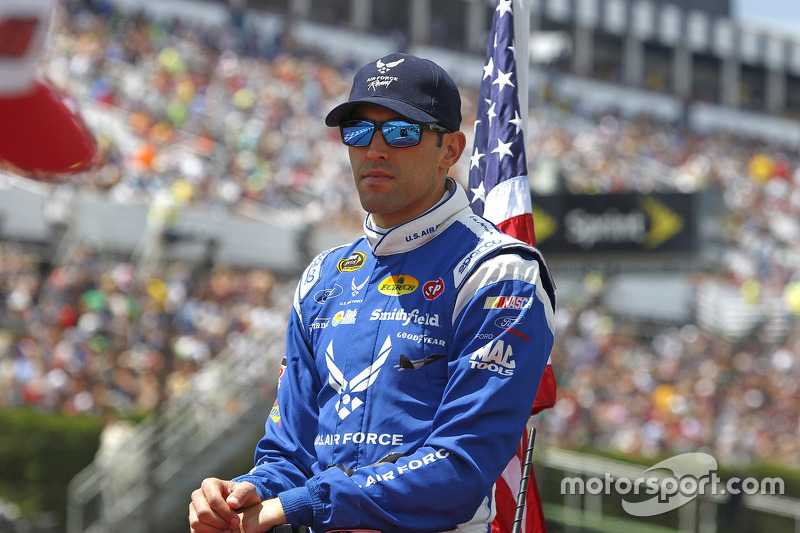 Long Pond, PA - Aug 02, 2015: The NASCAR Sprint Cup Series teams take to the track for the Windows