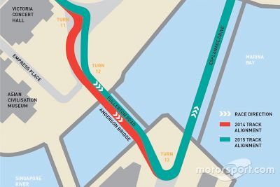 Revised layout for Singapore GP