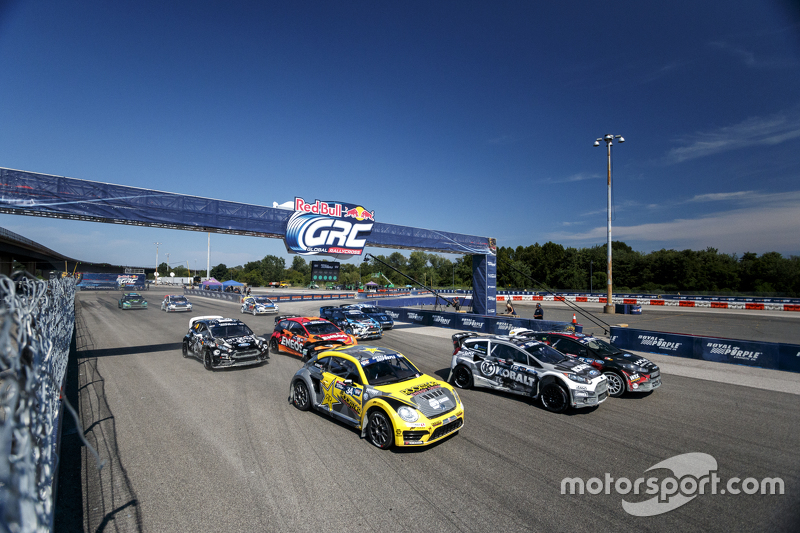 Start: Nelson Piquet Jr., SH Racing Rallycross Ford takes the memimpin
