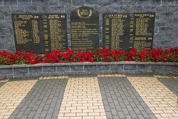 Robert and Joey Dunlop Memorial in Ballymoney, North Ireland