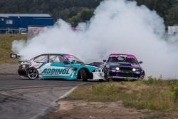 Столкновение: Андрей Богданов (BMW) и Андрей Песегов (Nissan)