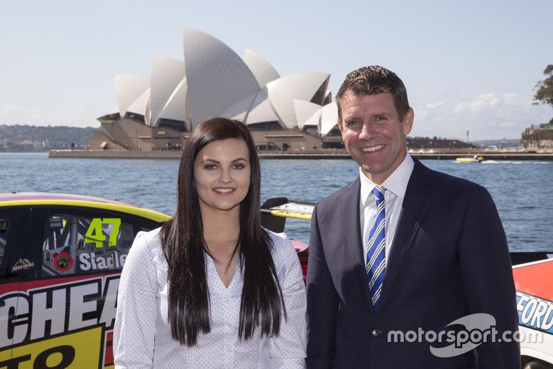NSW Premier Mike Baird з Рене Грейсі