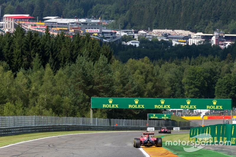 Sebastian Vettel, Ferrari SF15-T and team mate Kimi Raikkonen, Ferrari SF15-T