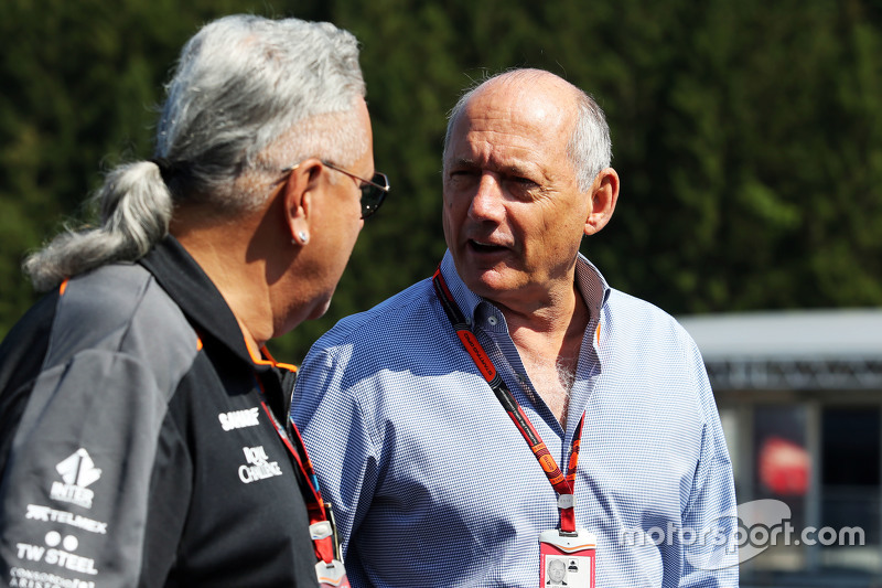 (L to R): Dr. Vijay Mallya, Sahara Force India F1 Team Owner with Ron Dennis, McLaren Executive Chai