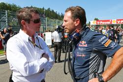 Christian Horner, Red Bull Racing director del equipo en la parrilla