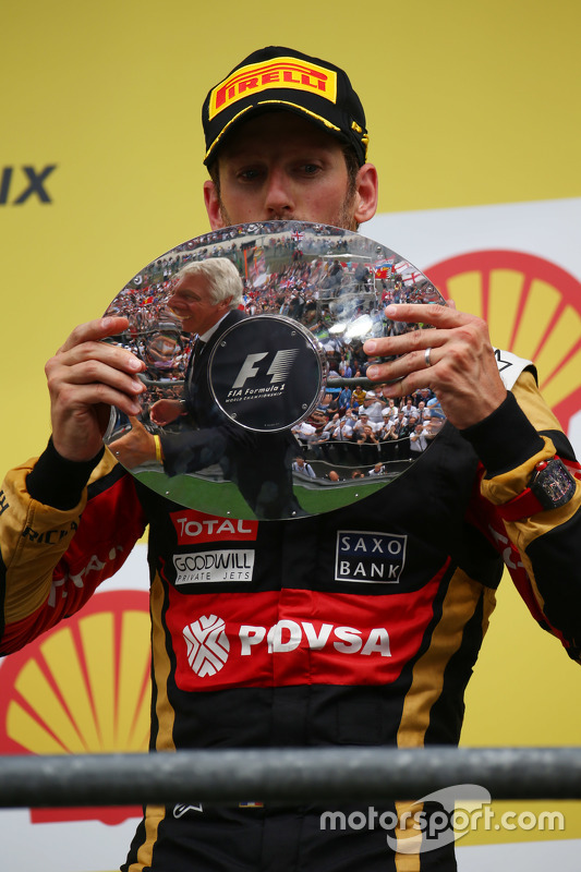 3de plaats Romain Grosjean, Lotus F1 E23