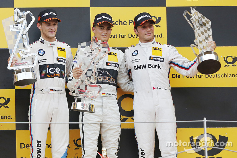 Podium: race winner Pascal Wehrlein, HWA AG Mercedes-AMG C63 DTM, second place Marco Wittmann, BMW T
